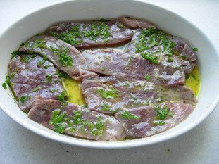 Marinated tuna with herbs : Photo of step #5