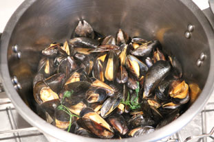 Curried mussels with cabbage : Photo of step #1