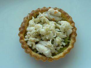 Langoustine and leek tarts : Photo of step #9