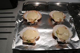 Scallops au gratin : Photo of step #12