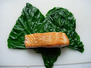Salmon chard rolls : Photo of step #6