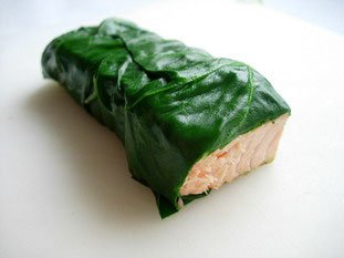 Salmon chard rolls : Photo of step #8