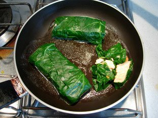 Salmon chard rolls : Photo of step #9