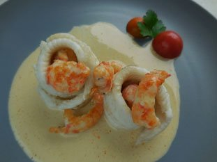 Turban of sole with langoustines : Photo of step #21