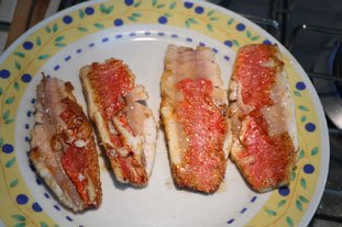 Red mullet fillets with a reduced white-wine sauce : Photo of step #5