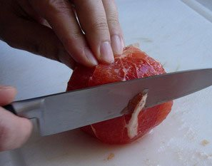 How to peel a fruit