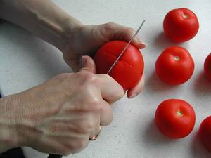 How to prepare tomatoes : Photo of step #3