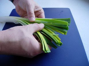 How to prepare leeks