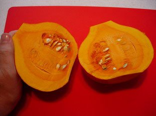 How to prepare a pumpkin (or potimarron) : Photo of step #3
