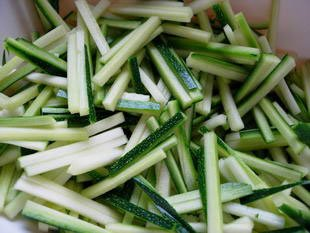 How to prepare courgettes : Photo of step #11
