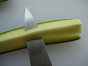 How to prepare courgettes : Photo of step #5