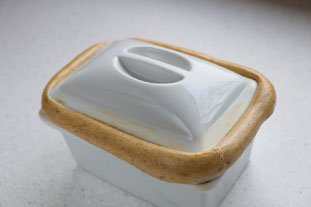 How to seal a terrine or casserole dish