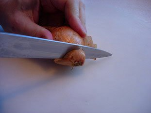 How to prepare an onion or shallot : Photo of step #2