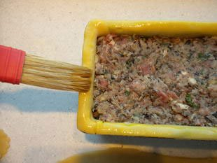 Paté en croute (terrine in a pie crust) : Photo of step #17