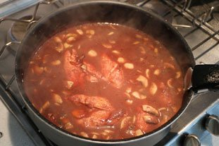 Coq au vin : Photo of step #13