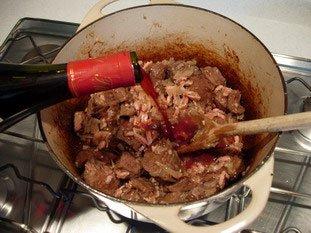 Boeuf (beef) bourguignon : Photo of step #10