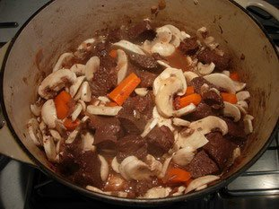 Boeuf (beef) bourguignon : Photo of step #16