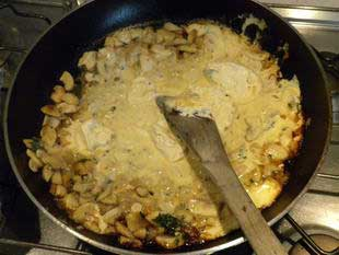 Escalope of veal in a cream sauce : Photo of step #9