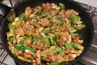 Sautéed chicken with leeks : Photo of step #9