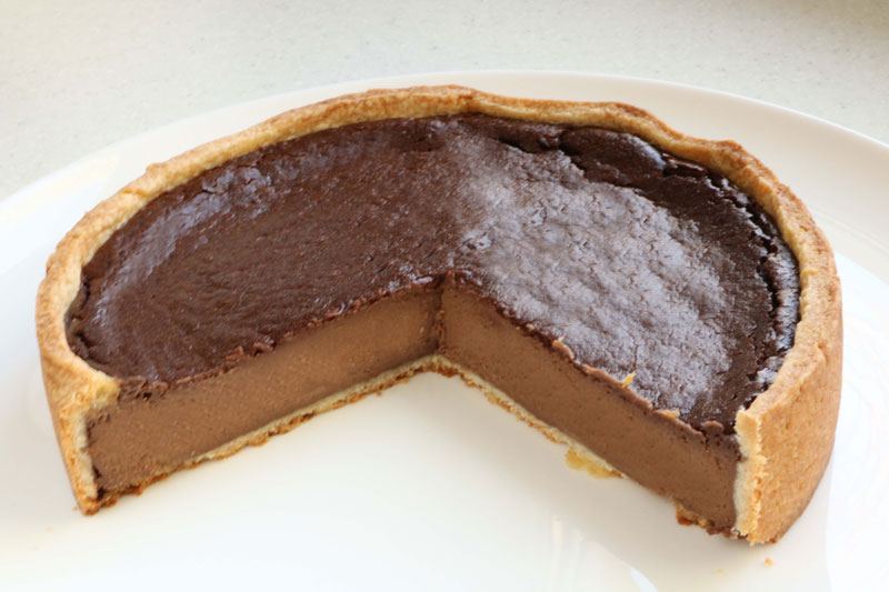 Parisian-style chocolate custard tart