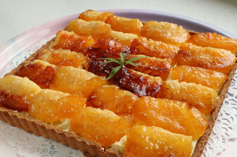 Tatin apple diplomat tart