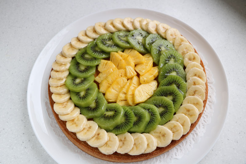 Exotic fruit tart