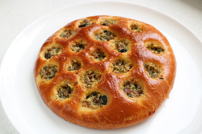 Snails in a brioche