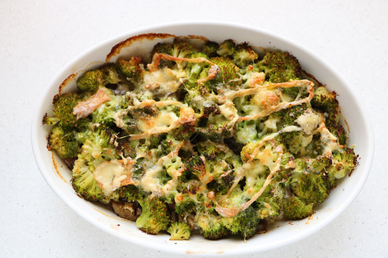 Two-cheese vegetable gratin