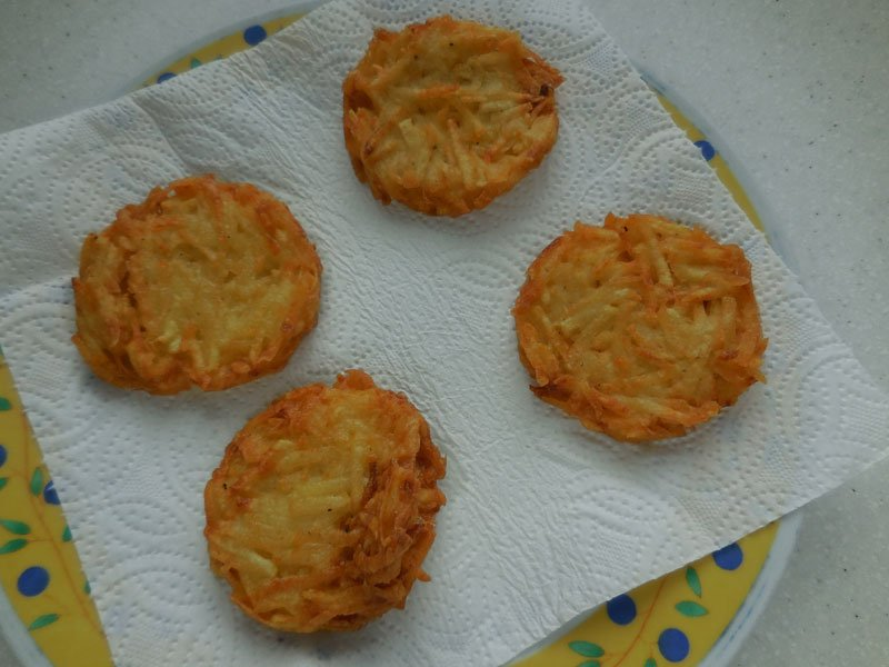 Grated potato cakes