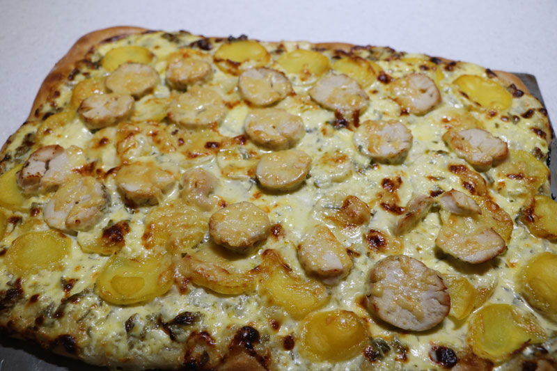 Baker's chicken and potato tart