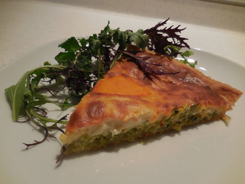 Leek and Mimolette tart