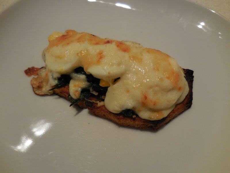 Spinach on toast with bechamel