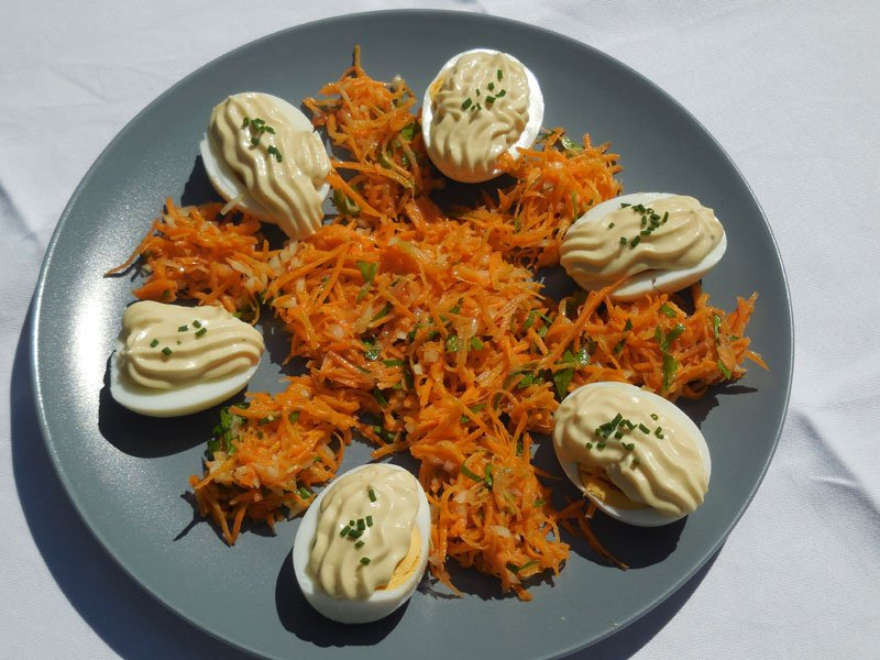 Eggs with mayonnaise