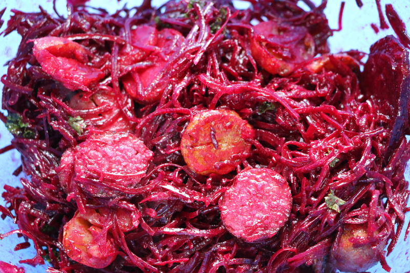 Polish-style beetroot salad