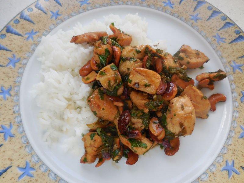 Thai-style Chicken with Cashew Nuts