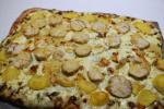 [Baker's chicken and potato tart]