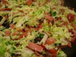 [Cabbage julienne with ham]
