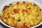 Creamy spinach and potato gratin