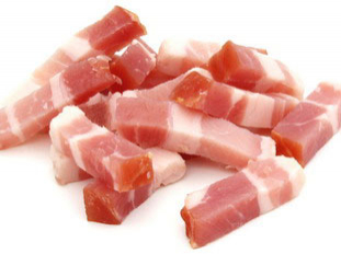 Small pieces of bacon