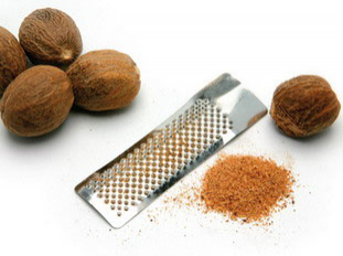 grated nutmeg