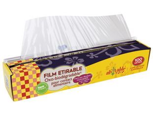 Plastic film and cooking papers