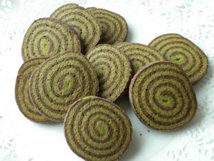 Chocolate and matcha tea biscuits