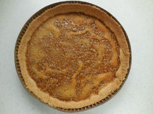 Simple maple-syrup tart