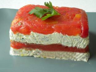 Tomato and cream cheese terrine