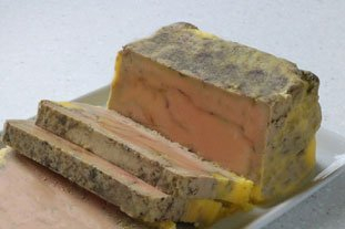 [Home-made terrine of foie gras]