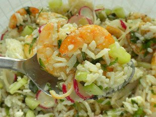 Prawn salad with a crunch