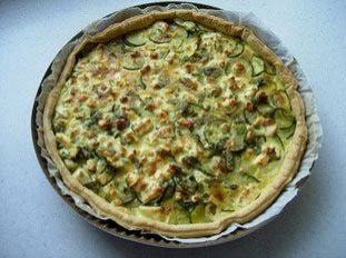 Courgette tart with mint