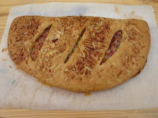 Fougasse with bacon and Comté