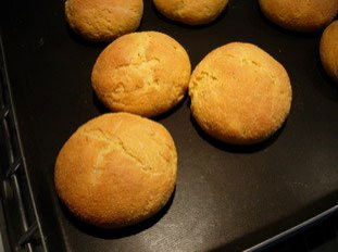 Cornmeal baps for Anne