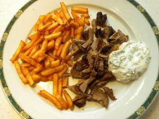 Home-made doner kebab